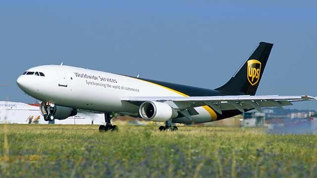 Stock photo of UPS Airbus A300