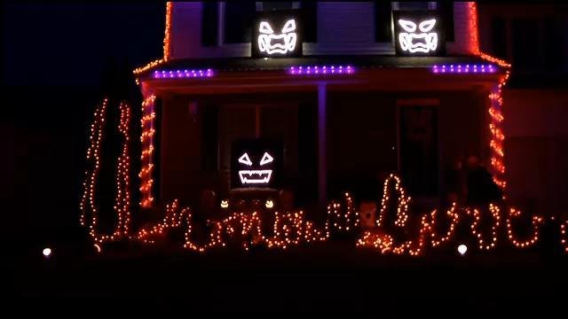 This house in J-town has been transformed into a synchronized music and lights show for Halloween.