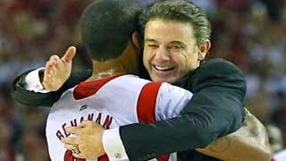 When will Louisville basketball coach Rick Pitino and forward Chane Behanan hug again? Stay tuned.