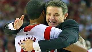 When will Louisville basketball coach Rick Pitino and forward Chane Behanan hug again? Stay tuned.