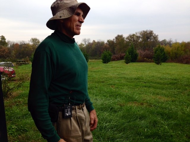 Owner of Fairfield Fruit, Rick Dean, looks over his berry farm