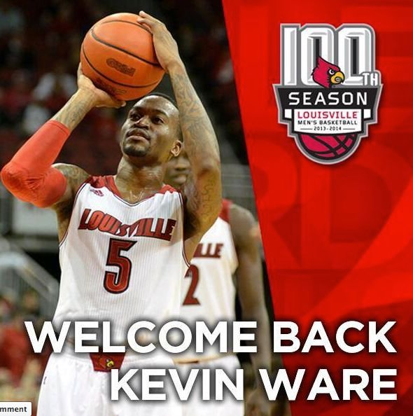 @University of Louisville photo. Image created for Ware's return by U of L's social media department.
