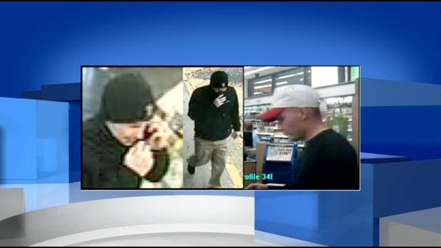 Police say this man robbed three Walgreens in Kentuckiana, and Crimestoppers is offering a $2,500 cash reward for information.