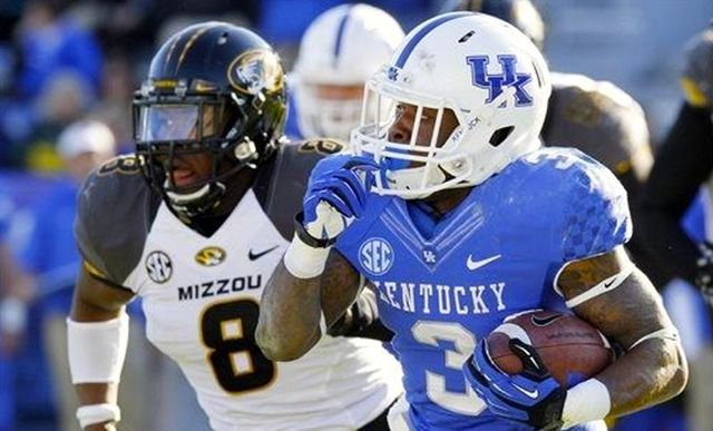 UK halfback Jojo Kemp ran for 45 yards in the Wildcats' 48-17 loss to Missouri Saturday.