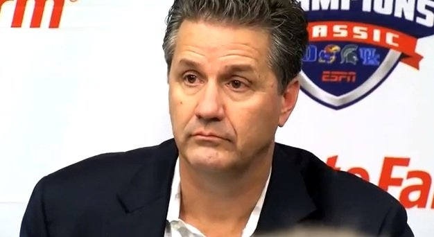 John Calipari after losing the Michigan State Tuesday