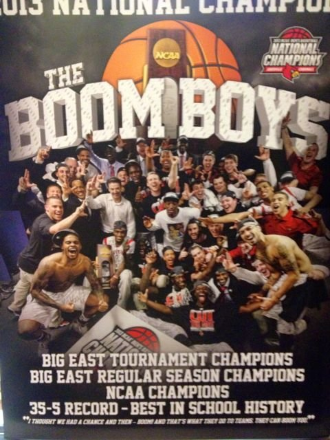 Poster U of L had printed after the NCAA title run.