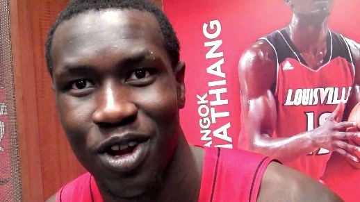 Mangok Mathiang had 3 blocks and 7 rebounds in Louisville's 69-38 win over Southern Miss Friday night.