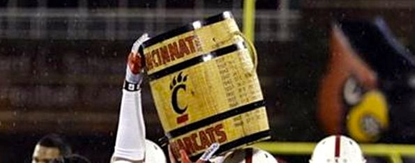 The winner of the Louisville-Cincinnati game will have an indefinite hold on the Keg of Nails trophy.