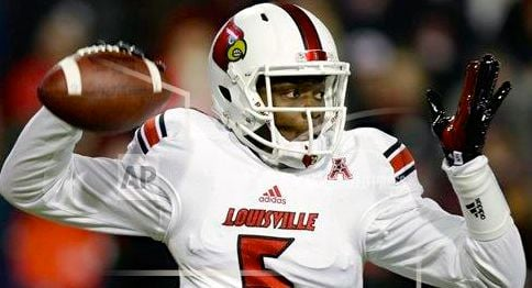Louisville quarterback Teddy Bridgewater threw three touchdown passes against Cincinnati Thursday.