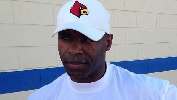 Charlie Strong after practice Monday in Orlando. (Photo courtesy of Matt Murschel via Instagram)