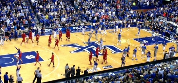 Kentucky overcame the absence of Julius Randle in the second half and beat Louisville, 73-66, in Rupp Arena Saturday.