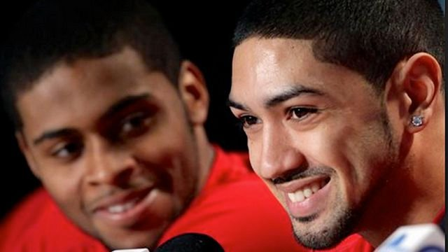 Peyton Siva (right) is confident that Chane Behanan can recover from his dismissal from the Louisville basketball team.