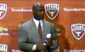Former Louisville coach Charlie Strong deliver a strong performance in his opening press conference at Texas.