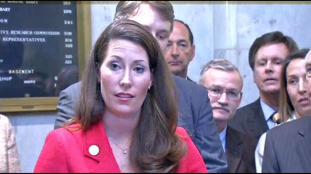 Ky. Secretary of State Alison Lundergan Grimes filed her paperwork Thursday to enter U.S. Senate race for Mitch McConnell's seat.