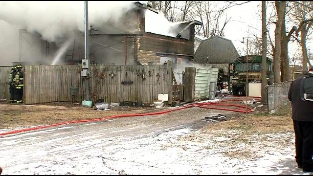 It was just before 2:00 p.m. when neighbors saw the flames and called 911. The man who lives at the home on Kehoe Lane near 10th St. in Jeffersonville was not home.