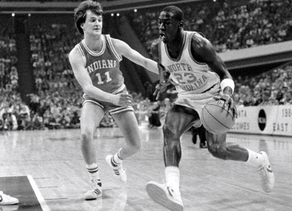 Former IU player Dan Dakich, who once slowed Michael Jordan in an NCAA Tournament upset will call the UK-LSU game Tuesday. (Photo Corbis Images).