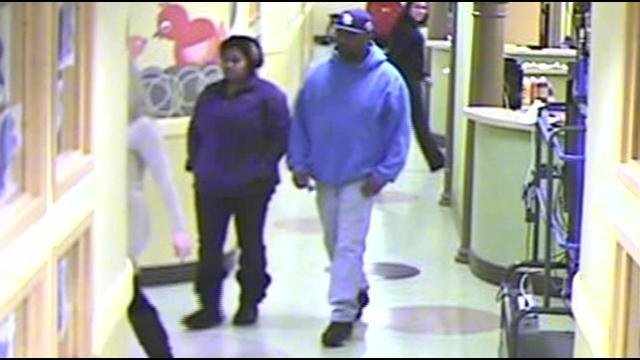 Police say 28-year-old Tamera Jenkins and 45-year-old Duane Acklin have been visiting child care centers in Louisville in order to steal cash.