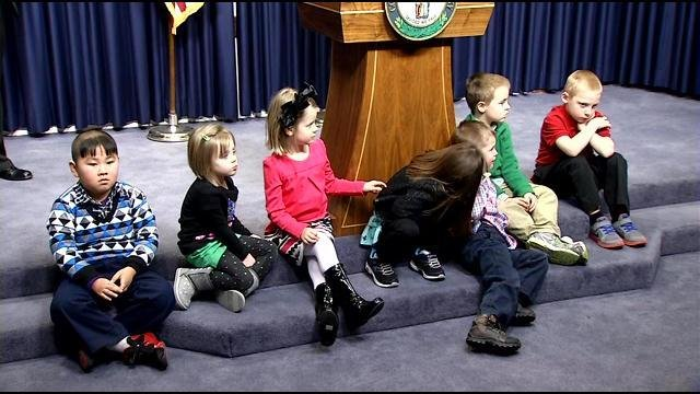 Gov. Steve Beshear announced the results of the Kindergarten Readiness Screener in a press conference Thursday, Jan. 30.