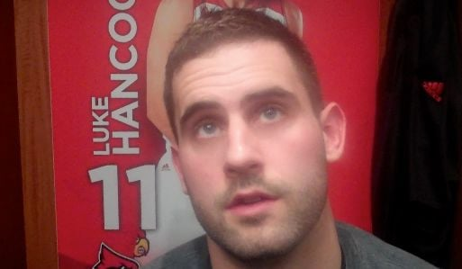 """Louisville senior Luke Hancock said the Cards need to make """"a lot of changes,"""" to make a post-season run this year."""