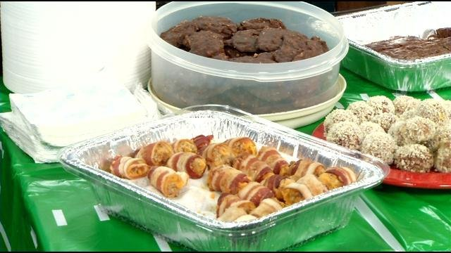 Bacon wrapped sausage balls from Erica Combs, editor