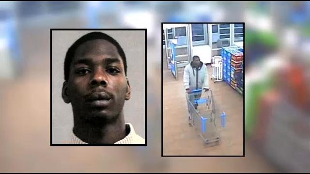 Police say 18-year-old Kaelin Akins is the man seen in the surveillance image on the right.