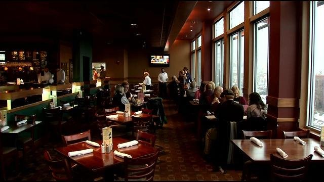 Bristol Bar and Grill in Jeffersonville, Ind. received many cancellations because of the snow on Valentine's Day.
