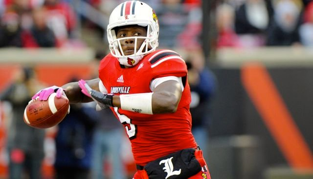 Former Louisville quarterback Teddy Bridgewater and Johnny Manziel of Texas A&M are competing for the top spot in the NFL Draft.