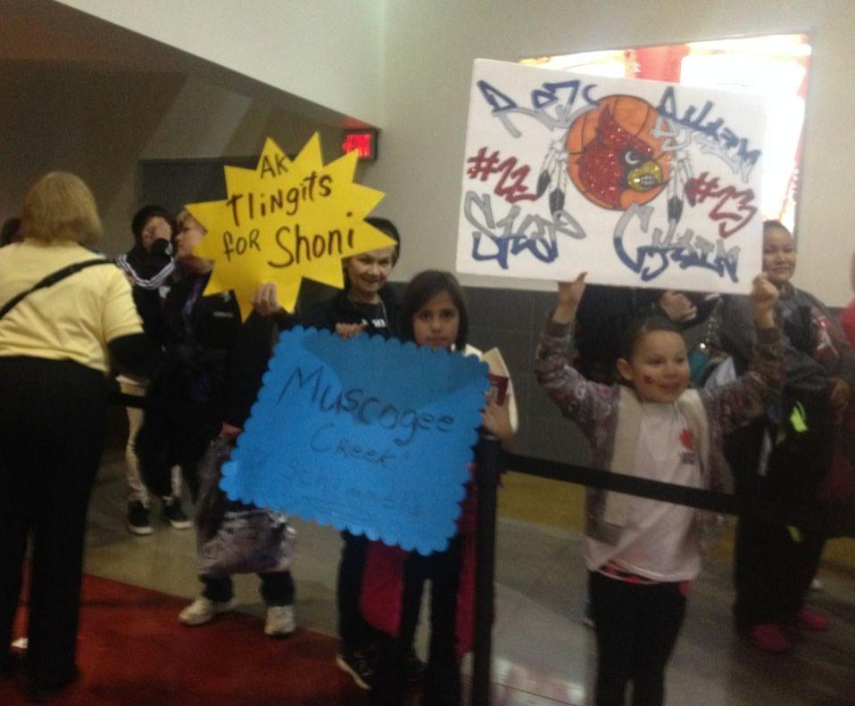 Schimmel fans at the KFC Yum! Center