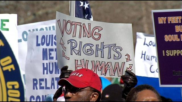 State leaders used the opportunity to urge support for House Bill 70, which restores voting rights for some felons.