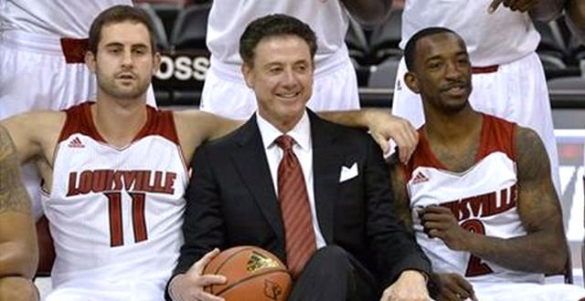 Luke Hancock (left) and Russ Smith (right) are two members of Rick Pitino's remarkable four-player senior class.