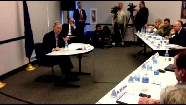 Sen. Mitch McConnell hosted a heroin listening session in northern Kentucky to discuss the statewide epidemic.