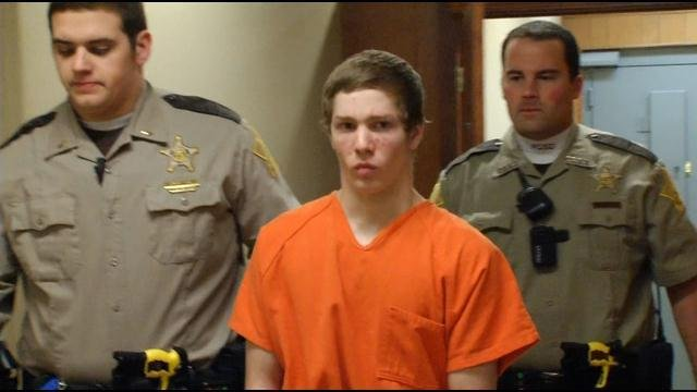 Cody Cashion at a court appearance in March.