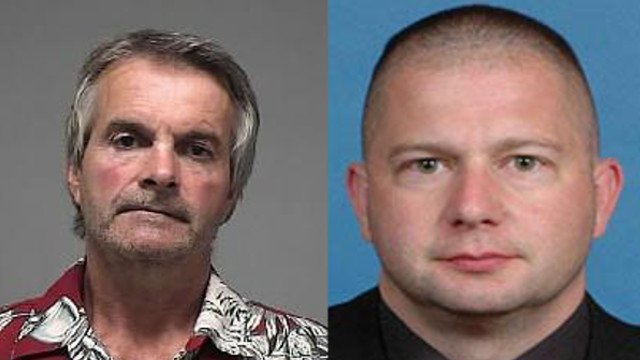 The fatal DUI case against Christopher Purcell (left) was dismissed after Officer Chris Thurman (right) was indicted on charges of official misconduct and theft.
