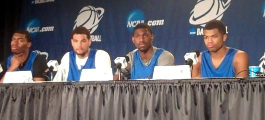 Four Kentucky players discussed the Wildcats NCAA Tournament game against Wichita State.
