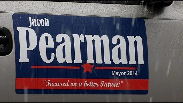 Jacob Pearman is running for mayor and says he is not responsible for his former church's financial woes.