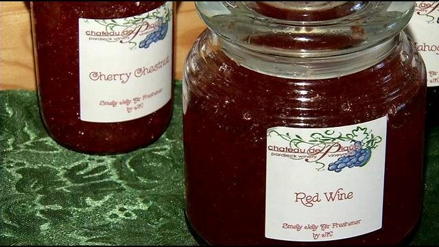 There are 105 different Smelly Jelly scents sold in 13 retail locations and online.