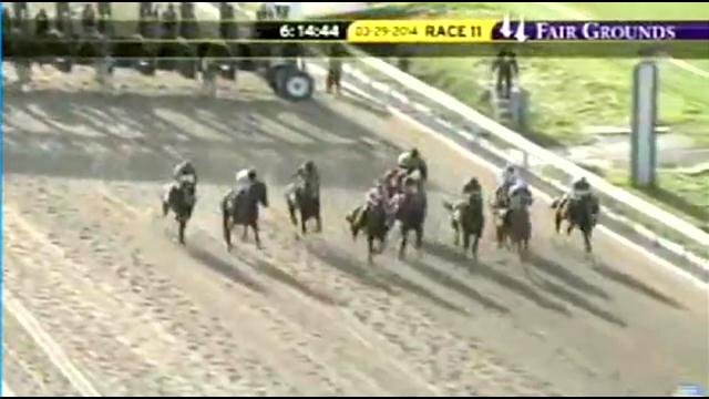 Vicar's in Trouble won the Louisiana Derby to earn 100 points in the Derby Challenge
