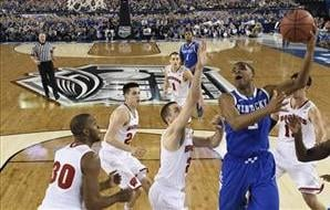 Kentucky defeated Wisconsin to advance to the NCAA championship game.