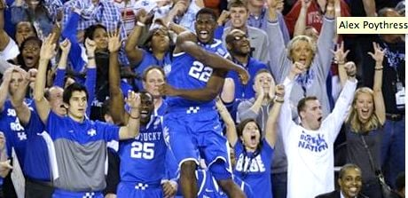 Kentucky is one victory from celebrating John Calipari's second NCAA title in three seasons.