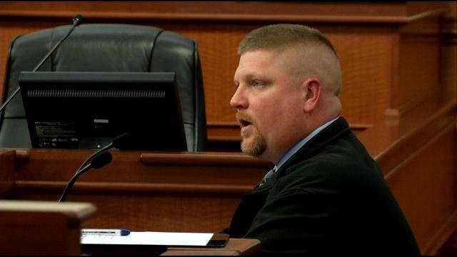 FOP President Dave Mutchler appears before a public safety committee and denies any cover-up of crimes at Waterfront Park.