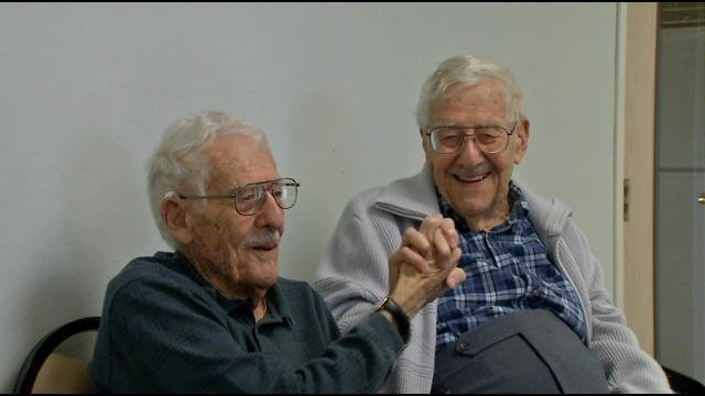George and Bill Swanson celebrate their 95th birthday and reminisce on life and service.
