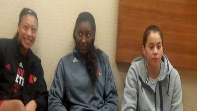 (From left) Antonita Slaughter, Asia Taylor and Shoni Schimmel were all selected in the WNBA Draft Monday.