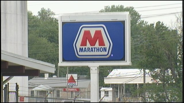A Marathon-branded gas station