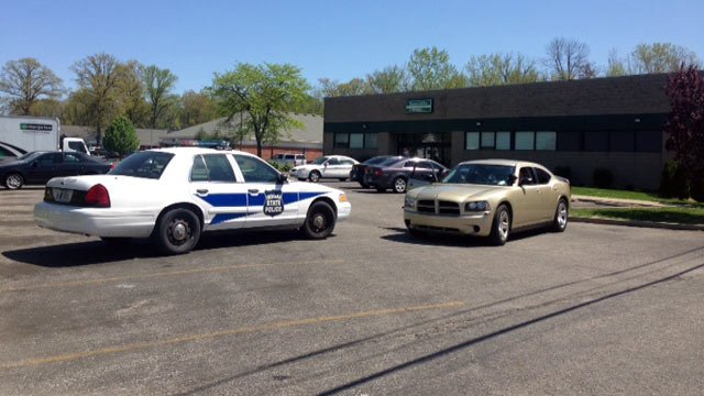 Police cars parked outside Physicians Primary Care in Jeffersonville