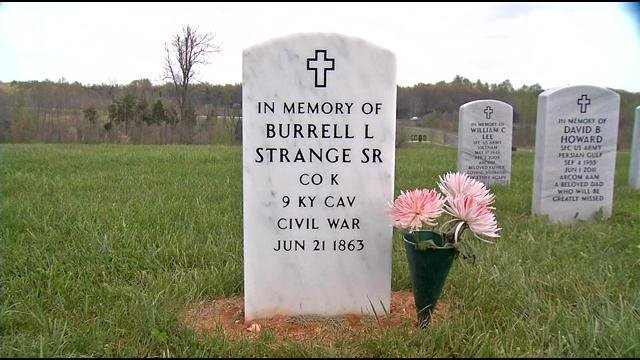 Burrell Strange Sr. is now remembered at the Veterans Cemetery in Radcliff after he was forgotten for 150 years.