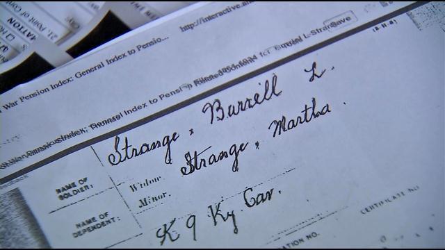 Records show Burrell Strange Sr. died June 21, 1863 in Columbia, Kentucky.