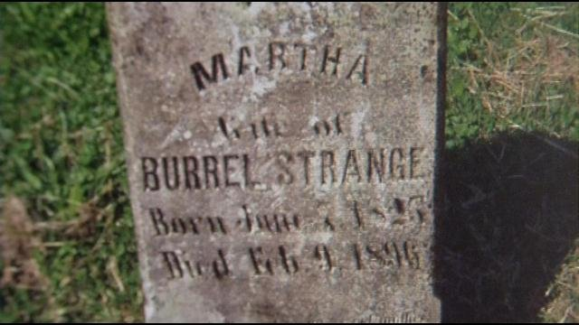 Martha Strange has been buried alone for 150 years.