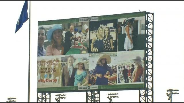 The new 90-foot tall video board at Churchill Downs is the largest of its kind in the world.