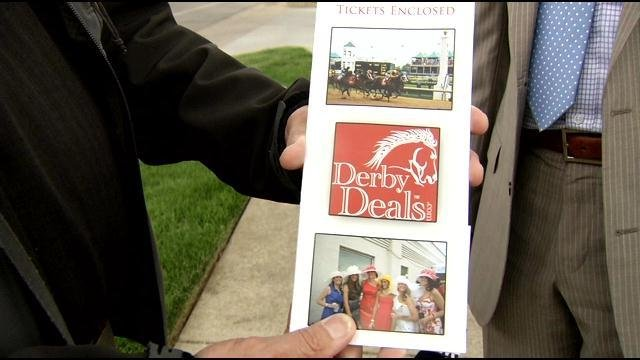 Bill Reeves holds a ticket package that he says did not include tickets to the Derby.