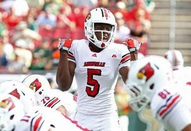 The Los Angeles Times 2014 NFL mock draft does not included Teddy Bridgewater in the first round.